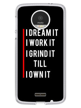 Morning Motivation Moto Z Mobile Cover Case