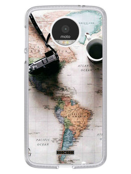 Wanderer's Map Moto Z Mobile Cover Case
