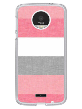 Pink White Stripes Moto Z Mobile Cover Case