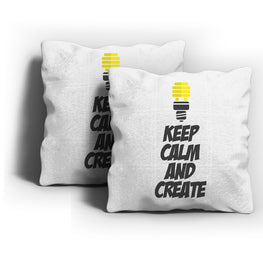 Keep Calm Create Cushion Cover