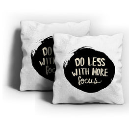 Do Less More Focus Cushion Cover