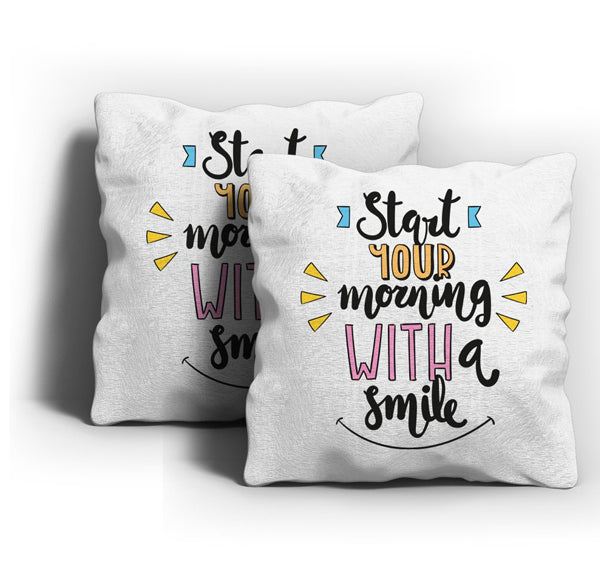 Morning Smile Cushion Cover