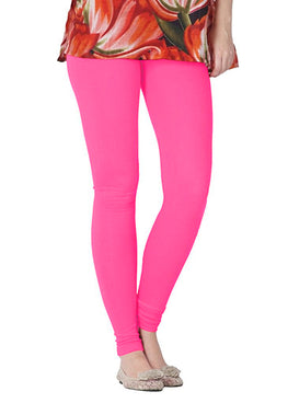Premium Super Soft Stretchable Free Size Baby Pink Leggings for Women