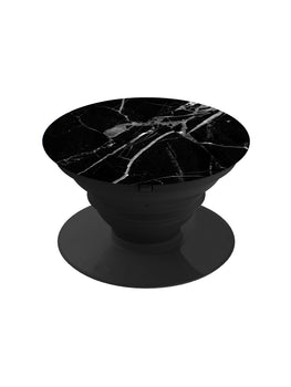 Black Marble Grey Veins Pop Grip Socket
