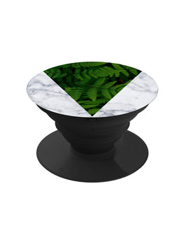 White Marble Ferns Pop Grip Socket