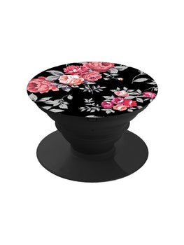 Black Floral Pop Grip Socket