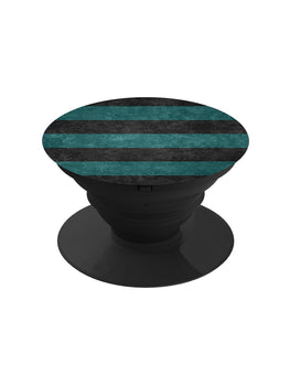 Black Green Stripes Pop Grip Socket