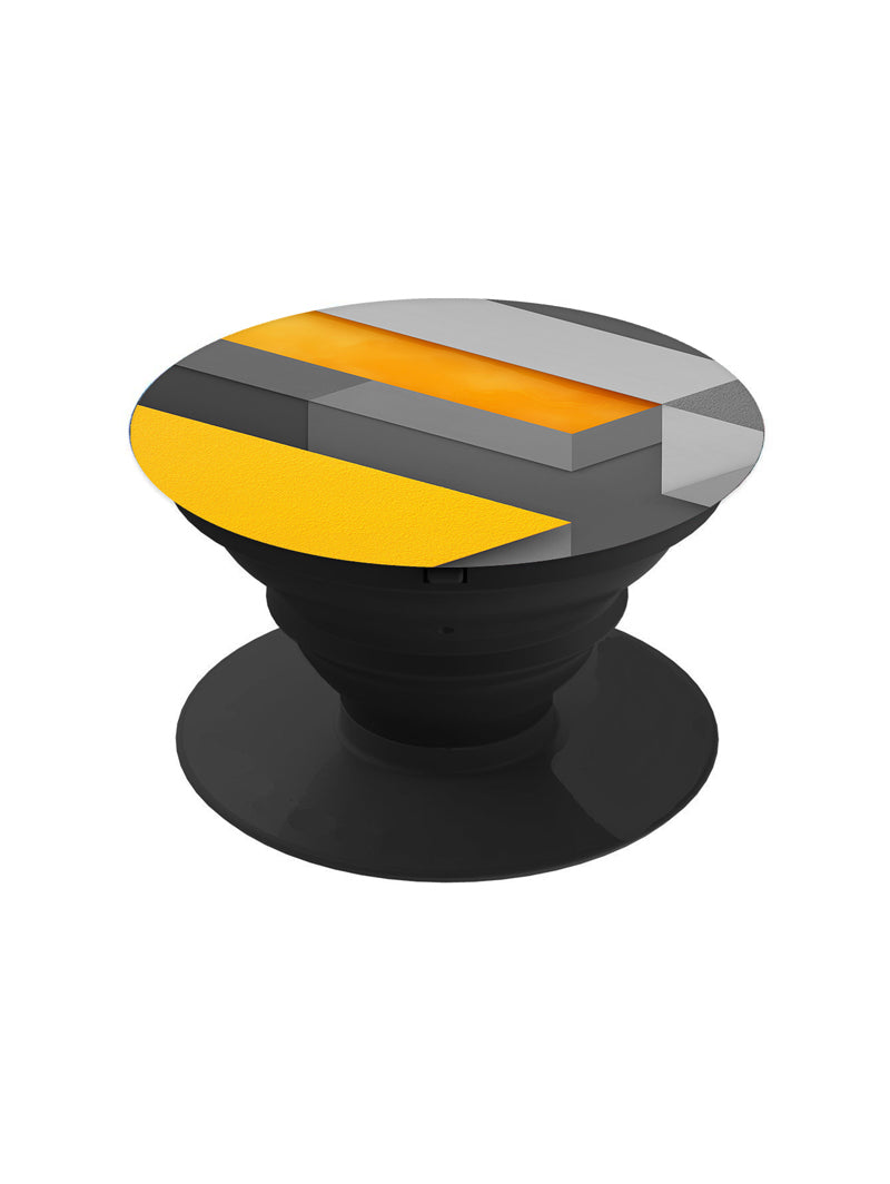 Yellow Grey Abstract Pop Grip Socket