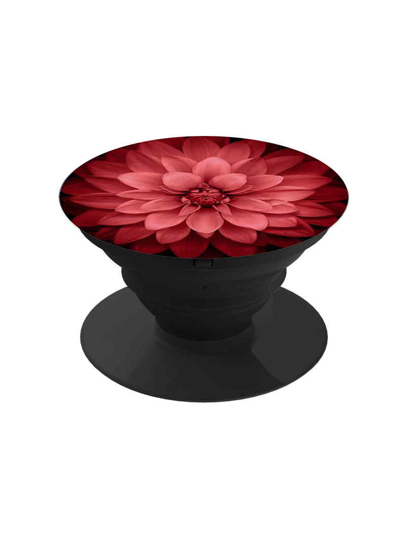 Red Floral Pop Grip Socket