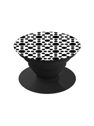 Monochrome Random Polka Pop Grip Socket