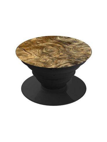 Printed Wooden Texture Pop Grip Socket