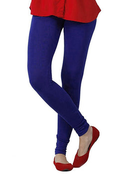 Premium Super Soft Stretchable Free Size Blue Purple Leggings for Women