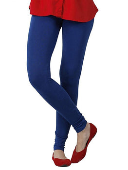 Premium Super Soft Stretchable Free Size Blue Leggings for Women