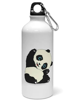 Cute Hello Panda For Animal Lovers  Water Sipper Sports Bottle