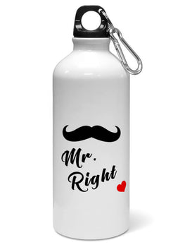 Mr Right Mustache Style For Boys Water Sipper Sports Bottle