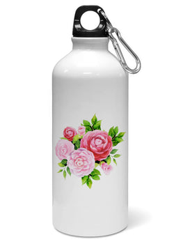 Pink Roses Floral Marble So Girly Water Sipper Sports Bottle