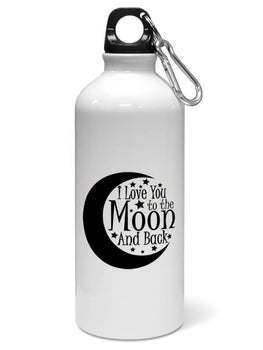 Love You Moon Quote For Valentine Day Water Sipper Sports Bottle