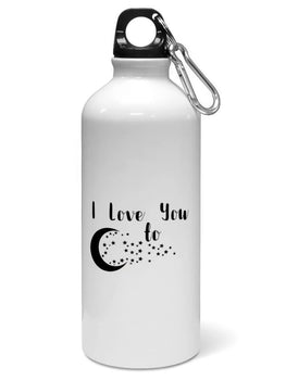 Love You To Star Typography Water Sipper Sports Bottle