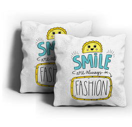 Smiles Always In Fashion Cushion Cover