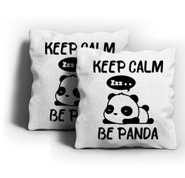 Keep Calm Be Panda Cushion Cover