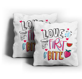 First Bite Love Cushion Cover
