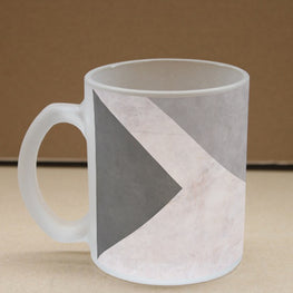 Geometry Marble Frosted Glass Coffee Mug