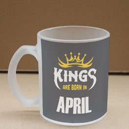 Kings April Narcissist Frosted Glass Coffee Mug
