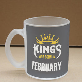 Kings February Narcissist Frosted Glass Coffee Mug