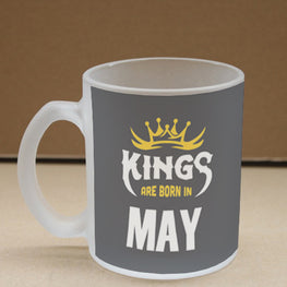 Kings May Narcissist Frosted Glass Coffee Mug