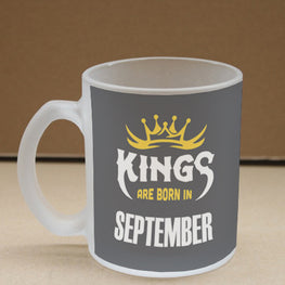Kings September Narcissist Frosted Glass Coffee Mug