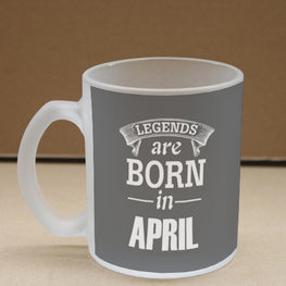 Legends April Frosted Glass Coffee Mug