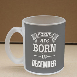 Legends December Frosted Glass Coffee Mug