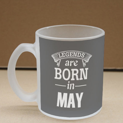 Legends May Frosted Glass Coffee Mug