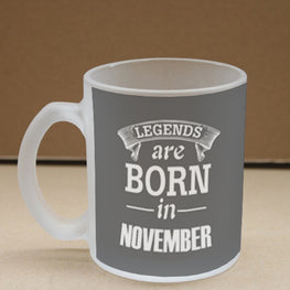 Legends November Frosted Glass Coffee Mug