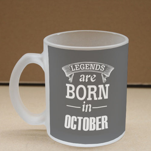 Legends October Frosted Glass Coffee Mug