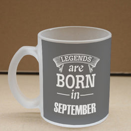 Legends September Frosted Glass Coffee Mug