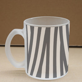 Geometry Stripes Frosted Glass Coffee Mug