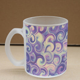 Squeezy Circles Frosted Glass Coffee Mug