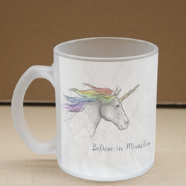 Believe In Miracles Frosted Glass Coffee Mug