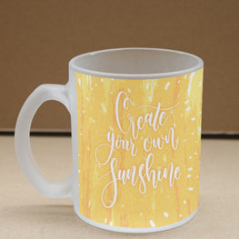 Create Own Sunshine Frosted Glass Coffee Mug