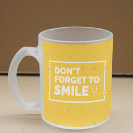 Don't Forget To Smile Frosted Glass Coffee Mug