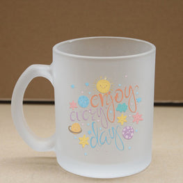 Enjoy Every Day Frosted Glass Coffee Mug