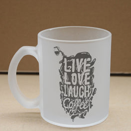 Live Love Laugh Coffee Frosted Glass Coffee Mug
