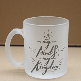 My Kingdom Frosted Glass Coffee Mug