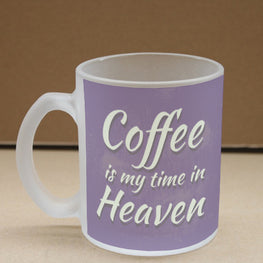 Feels Like Heaven Frosted Glass Coffee Mug