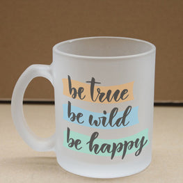 True Wild Happy Frosted Glass Coffee Mug