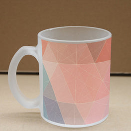 Retro Poly Frosted Glass Coffee Mug