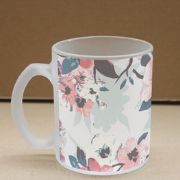 Feeling Floral Frosted Glass Coffee Mug