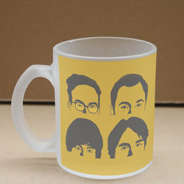 The BBT Frosted Glass Coffee Mug