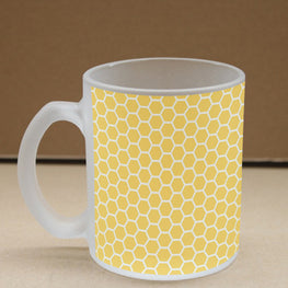 Yummy Honey Comb Frosted Glass Coffee Mug